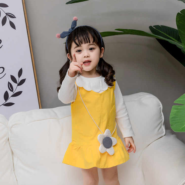 0ff2f784f9d1 ... Платье для малышей осень весна для девочек вельвет жилет платье Одежда  Модная одежда для детей ...