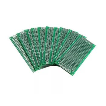40pcs PCB Boards FR-4 2.54mm Double-sided Prototype Tinned Printed Circuit Board