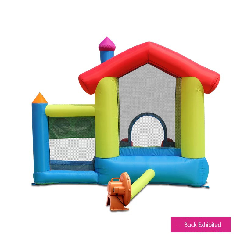 HTB1xj6FPFXXXXaZXFXXq6xXFXXX7 - Mr. Fun Inflated Bouncing Castle Mushroom Jumper Playhouse with Kids Slide, Ball Pool, & Target Game with Blower