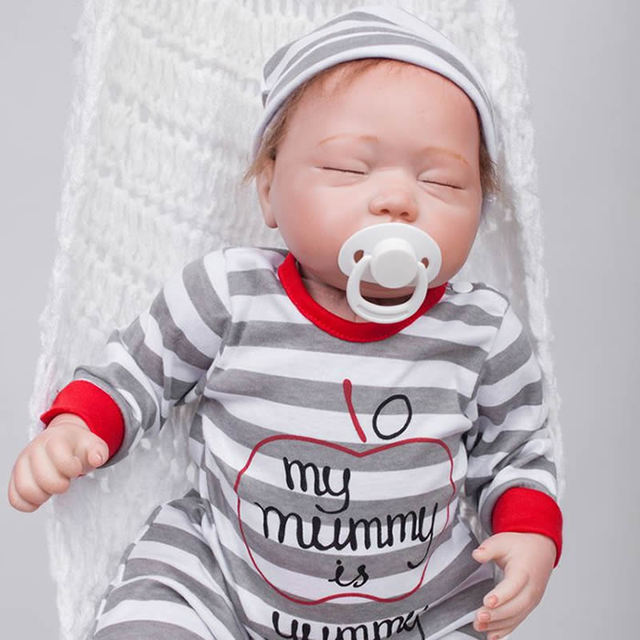 9595393da7bb Can Sit And Lie 20 Inch Reborn Baby Dolls Realistic Babies Boy Newborn Doll  Silicone Cloth Body Toy With Clothes Kids Playmate