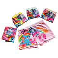 3 unids/1 lote baby girls underwear mis niños bragas de dibujos animados pequeños ponis lindos calzoncillos leche tejidos boxeadores de los niños escritos ku22m