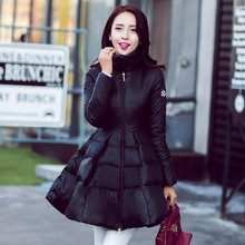 New 2015 Winter Coat Women Outwear Hooded Thicken Casual Slim Long Down Jacket Women Elegant Down