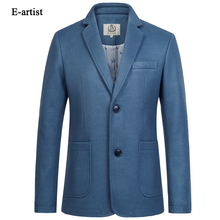 Men's Business Casual Wool Blazer Jackets Slim Fit Suit Coats Outwears Plus Size 5XL For Spring Autumn Winter X43
