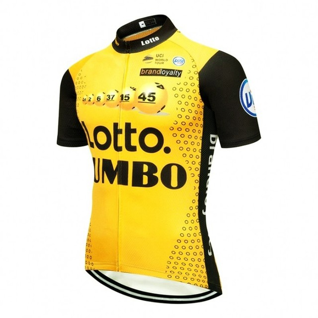 65b059470 more choice 2018 pro team lotto jumbo yellow cycling jersey summer Short  sleeve clothing MTB Ropa Ciclismo Bicycle maillot only