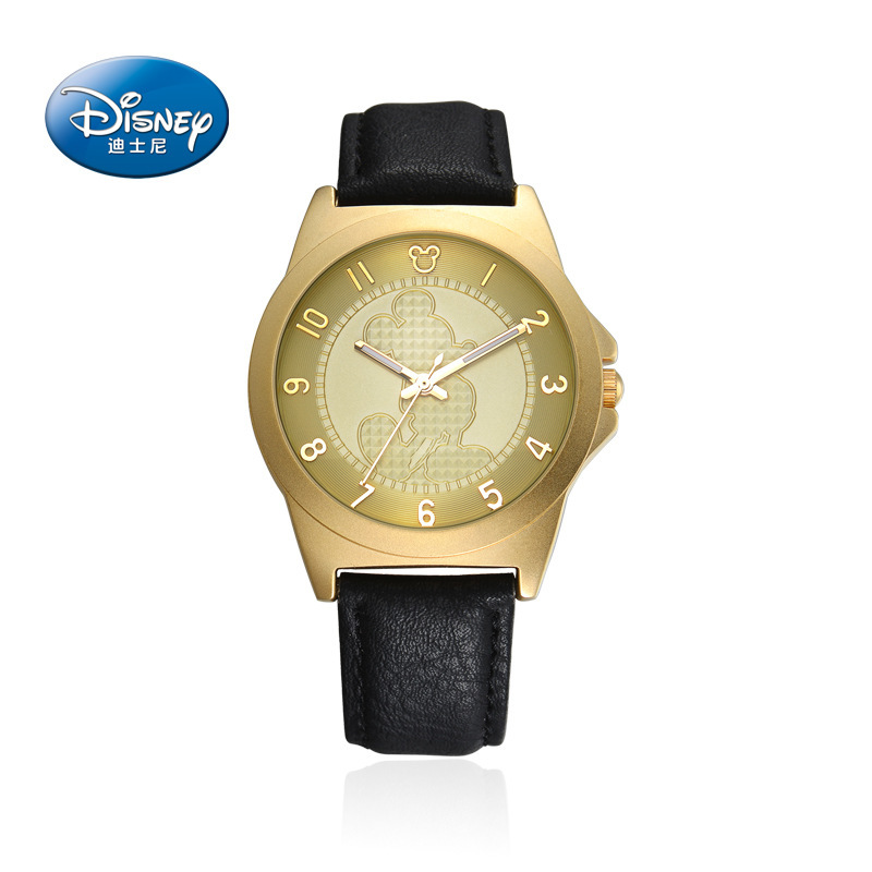 Disney Mens Watches Luxury Brand Fashion Leather Mickey Mouse Quartz Watches for Men Wristwatch relojes hombres horloges mannen disney original brand genuine leather purple mickey mouse watches for womens luxury diamond quartz female clocks waterproof