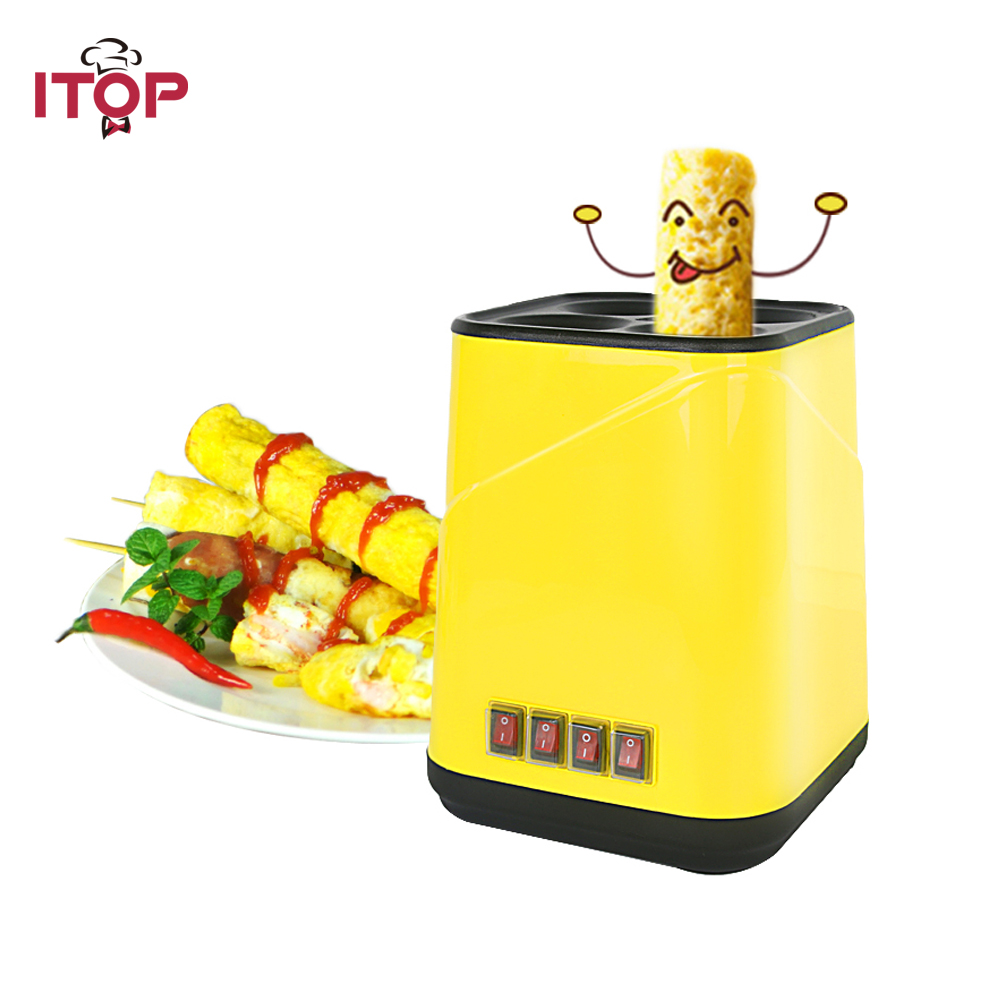Electric Non-stick Egg Roll Maker Easy Cook Breakfast Sausage Making Machine Yellow