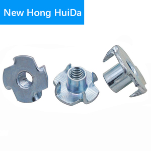 Image 2 - M3 M4 M5 M6 M8 M10 Zinc Plated Four Claws Metric Nut Speaker Nut T nut Blind Pronged Tee Nut Furniture Hardware