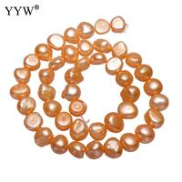 Cultured Baroque Freshwater Pearl Beads Nuggets Orange 8 9mm Sold Per Approx 14.2 Inch Strand