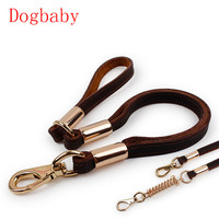 large Pet Cat Puppy Dogs Leash collars Rope leather Alloy Training Leash Lead Strap Collar quick release Pet supplies 2017