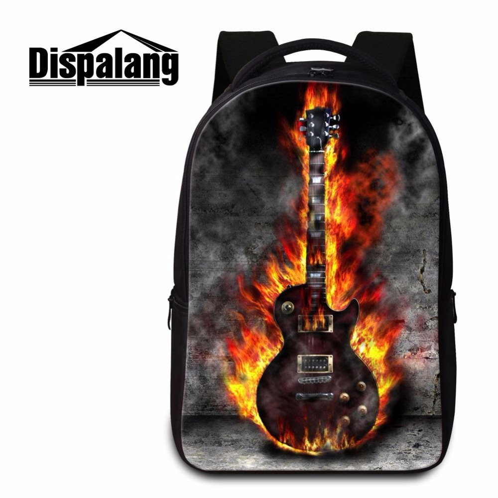 Dispalang Unique Travel Laptop Backpack Bags Violin Ballet Toe Shoes Prints College Student Bookbag Double-shoulder School Bag chic canvas leather british europe student shopping retro school book college laptop everyday travel daily middle size backpack