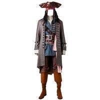 Пираты Карибского моря: dead Для мужчин не рассказывают сказки/Salazar месть Джек Воробей костюм Капитан Джек Косплэй костюм наряд 3761