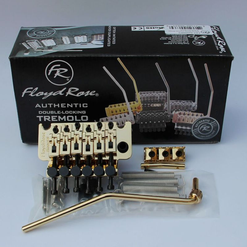 Double swing bridge Floyd Rose Special Series Tremolo Bridge with R3 Nut Gold S3000 genuine floyd rose special guitar locking tremolo bridge system with r2 or r3 nut chrome black gold