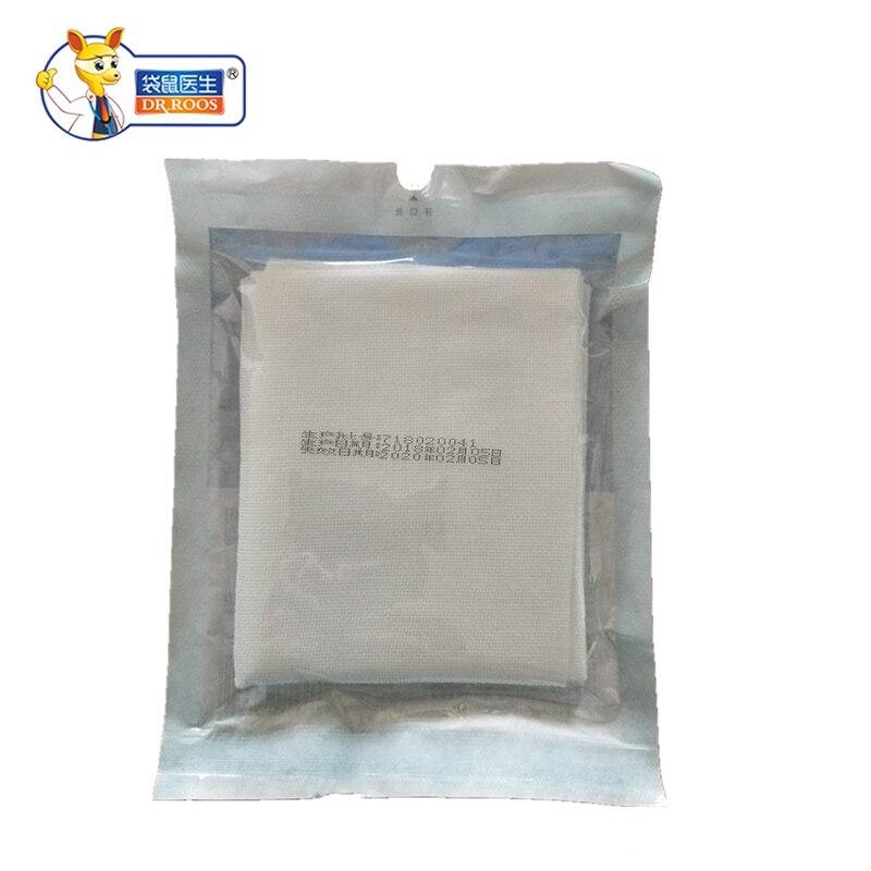 купить Free shipping DR.ROOS 25pcs 5pcs/bag 100x120mm 8 Layer Medical Gauze Pads Hemostasis Cotton Pads for Wound Bandaging Disinfect по цене 743.21 рублей