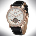 Wholesale 2016 JARGAR Casual Watch Relogios Casual Leather Tourbillon Mechanical Men's Watch Multifunction