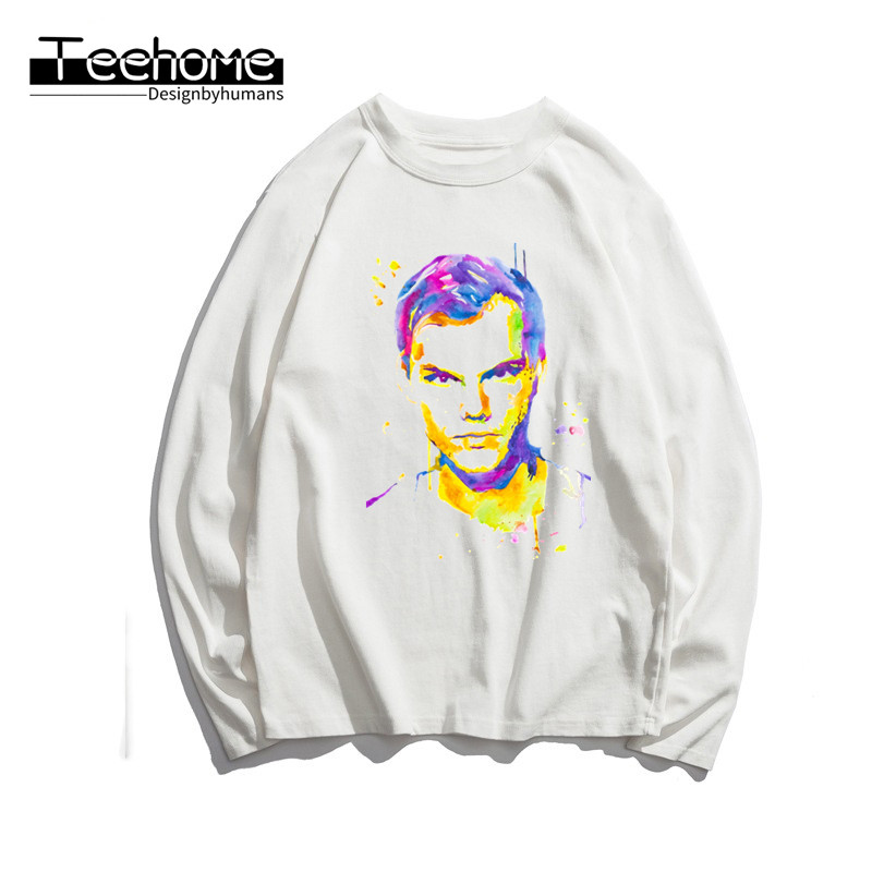 Men's Music Dj Avicii Print Long Sleeve Autumn Men and Women Full Sleeve Harajuku T Shirt Winter Streetwear