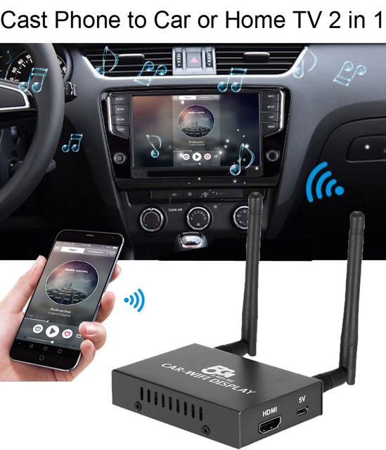 US $62 06 10% OFF|Aliexpress com : Buy 5G Car WiFi Display Dongle 1080P  Receiver Airplay Miracast DLNA CVBS HDMI Screen Mirroring iOS Android Phone  to