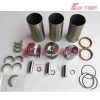 For Yanmar 3D88 3TNV88 engine rebuild kit 3TNV88 piston +piston ring cylinder liner full gasket bearing kit|Pistons  Rings  Rods & Parts| |  -