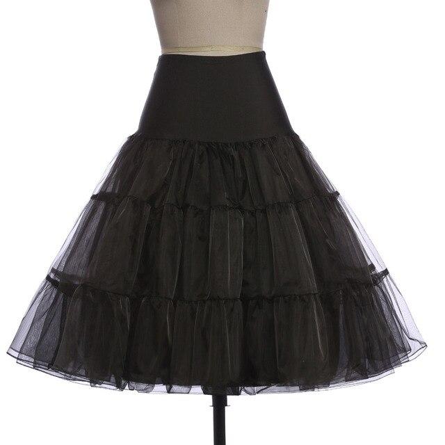Black Pettiskirt Ployester Ruffle Tutu Princess Party Tulle Casual Skirt Petticoat Skirts Ball Gown Crinoline Underskirt 2016