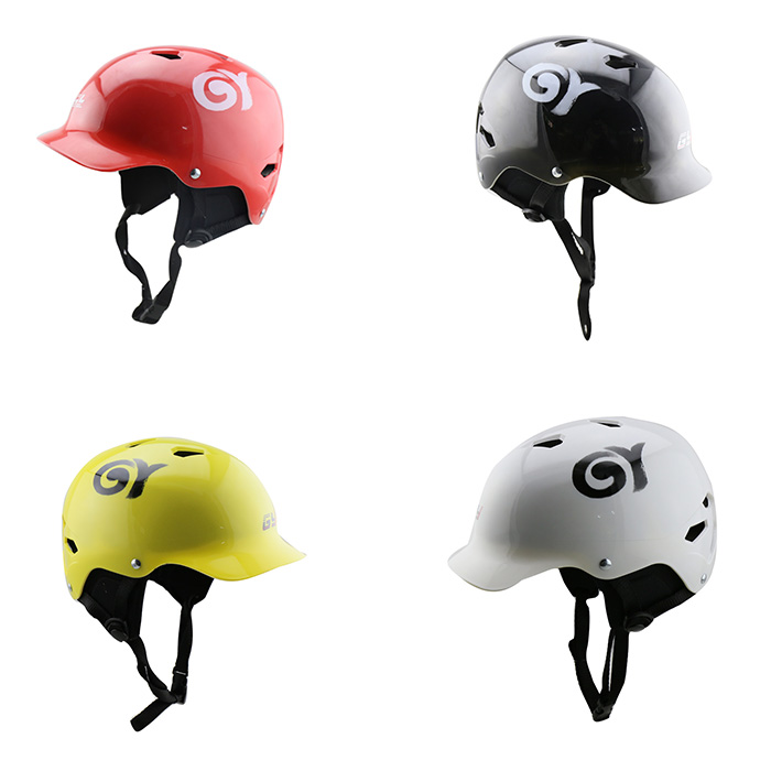 GY Water Sports Helmet with Soft Waterproof Lining Black Red White Yellow for Kayak Canoe Mtb