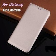 Для Samsung Galaxy A5 A510 A510F A510H 5,2 дюймов тонкий бумажник чехол кожаный чехол на застежке, чехол, умный чехол для телефона чехол с держатель для карт