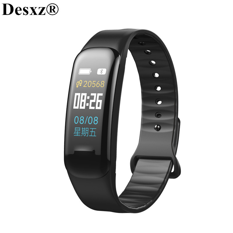 Desxz Smart Bracelet Wristbands Fitness Passometer Smartband Fitness Tracker Blood Pressure Heart Rate Monitor Color Watchs IP67