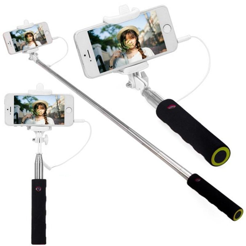 handheld selfie stick with jack cable stretch selfie monopod camera shutter with. Black Bedroom Furniture Sets. Home Design Ideas