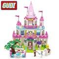 Игрушка GUDI для девочек Принцесса Милая девочка розовый замок блоки 616 шт Кирпичи Модель Строительный Набор Развивающие игрушки для детей