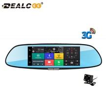 Dealcoo 3g автомобиля Камера 7 «сенсорный Android 5,0 gps видеорегистратор Автомобильный видеорегистратор Bluetooth WI-FI Двойной объектив зеркалом заднего вида регистраторы автомобиля dvrs