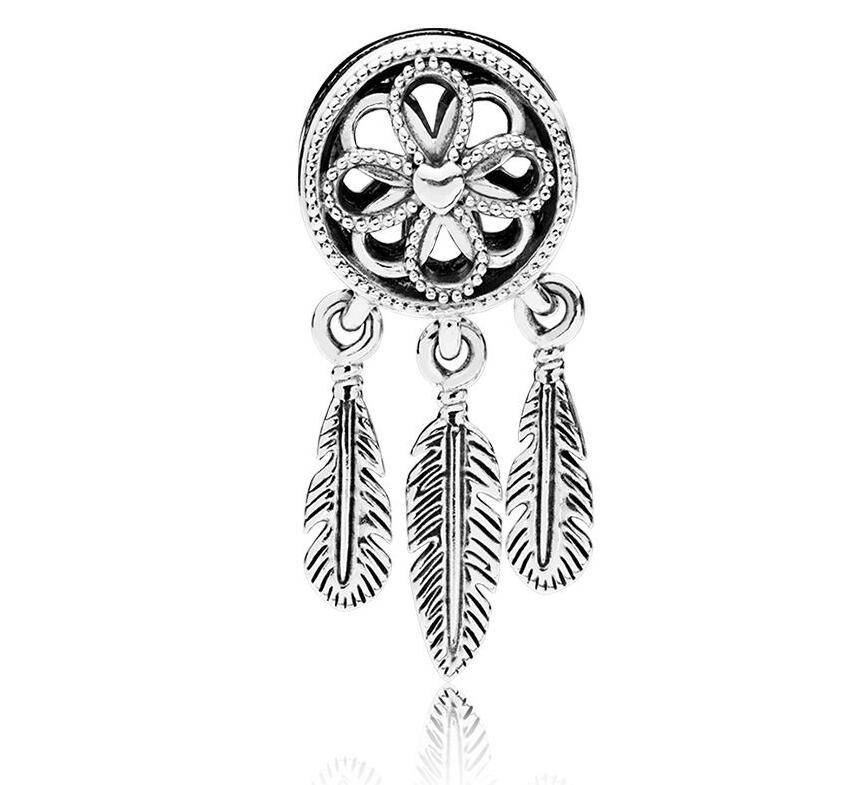 Authentic 925 Sterling Silver Bead Spiritual Dream Catcher Dangle Charm Fit Original Pandora Bracelet & Necklace Diy Jewelry наушники fischer audio dream catcher spiritual violet