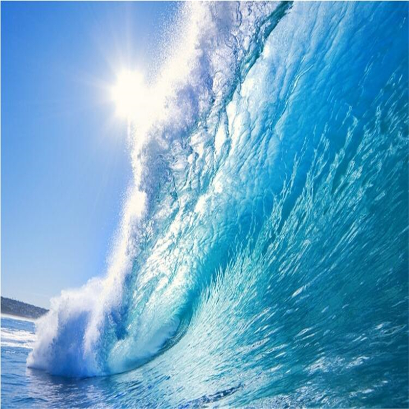 beibehang 3d The Deep Blue Sea surf ocean waves large murals TV backdrop photo wallpaper wall mural papel de parede para quarto 100% new and original fotek photoelectric switch mr 60x npn output