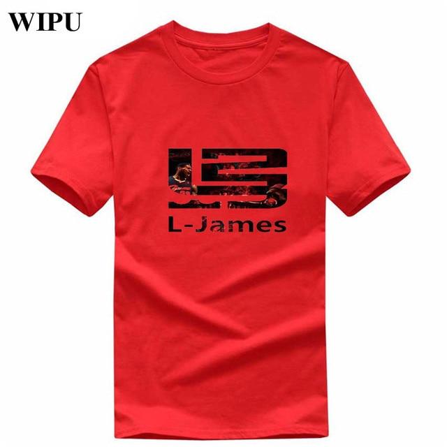 8aea8b02d8c6 WIPU 2019 New Brand Summer LeBron James 23 T Shirts Men James T shirt Short  Sleeve