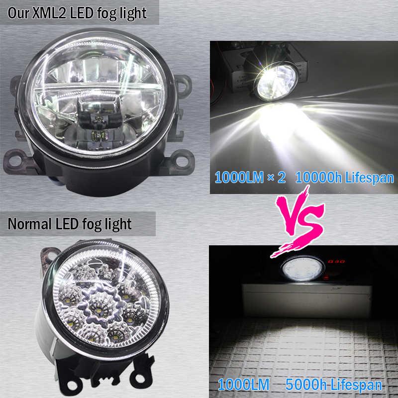 Cawanerl 2 X רכב אביזרי LED הנורה ערפל אור 4000LM לבן 6000 K 12 V DRL בשעות היום ריצת מנורת עבור סובארו אאוטבק 2010-2012