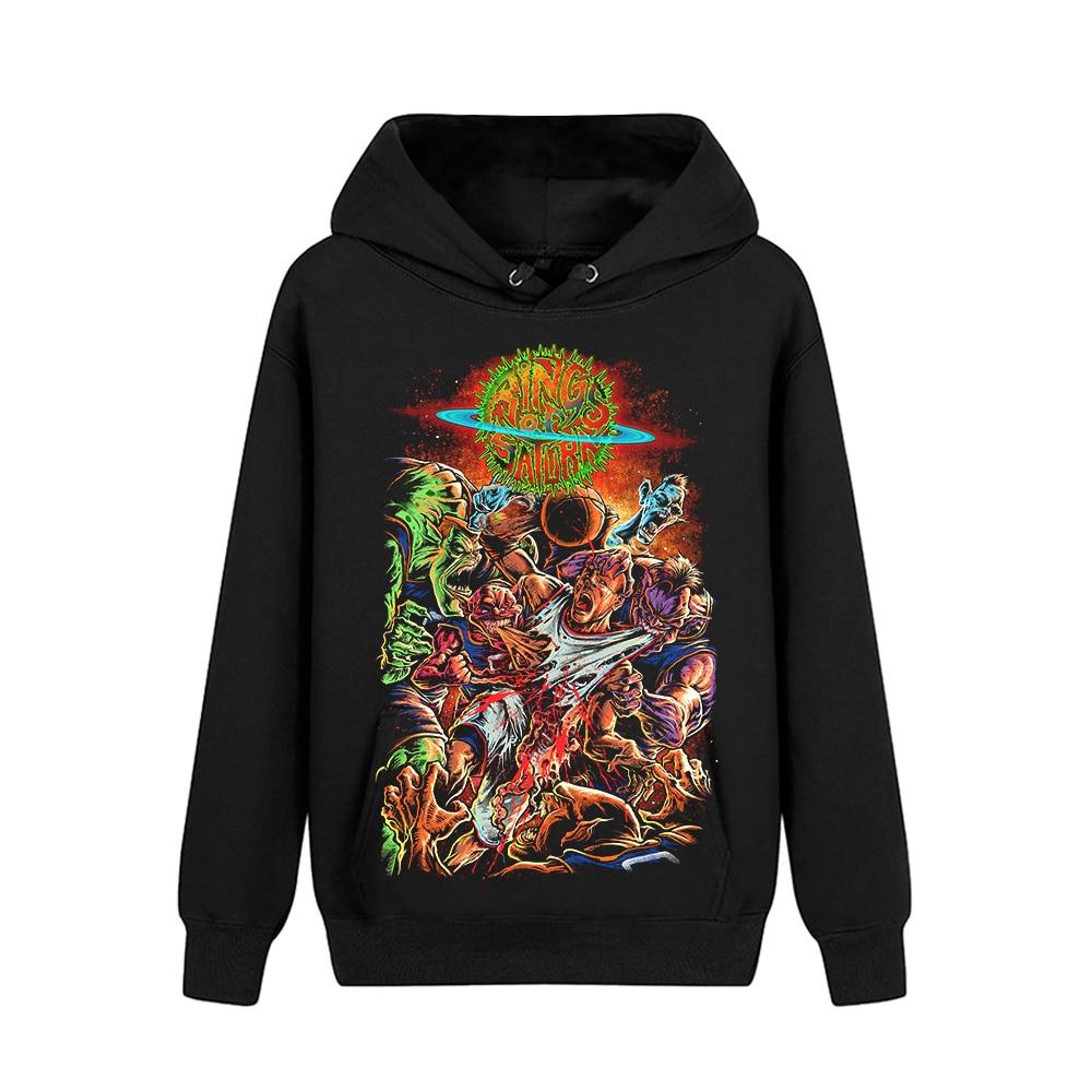 Bloodhoof Rings of Saturn Xeno Heavy Metal Got Your Six Black Long Sleeve Pullover hoodie Asian Size-in Hoodies & Sweatshirts from Men's Clothing    1