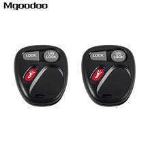 2Pc 3 Buttons Keyless Entry Remote Control Key Fob Shell Transmitter For Chevrolet Silverado Tahoe GMC Yukon KOBLEAR1XT 15042968