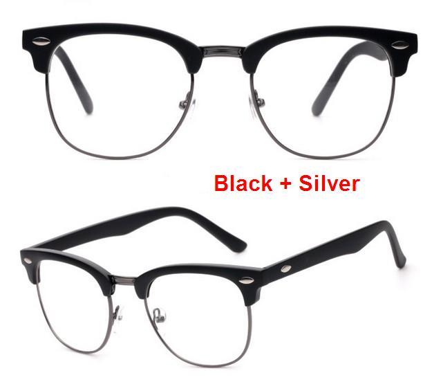 J47 prekės ženklo dizaineris akinių rėmelis pusiau metalinis - Drabužių priedai - Nuotrauka 3