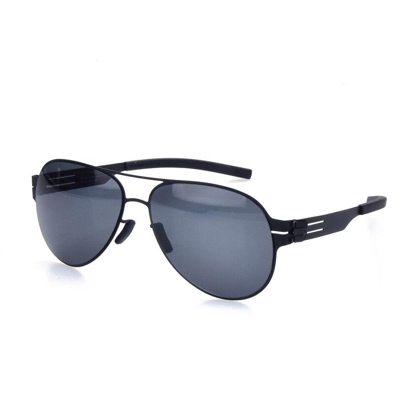 Lunettes de soleil polarisées de marque pilote pour hommes et femmes lunettes sans vis lunettes Fashional Oculos avec étui d'origine