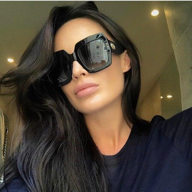 Королевский Девушка ретро квадратный Солнцезащитные очки для женщин Для женщин толстые брендовые дизайнерские Защита от солнца очки оттенки ss820