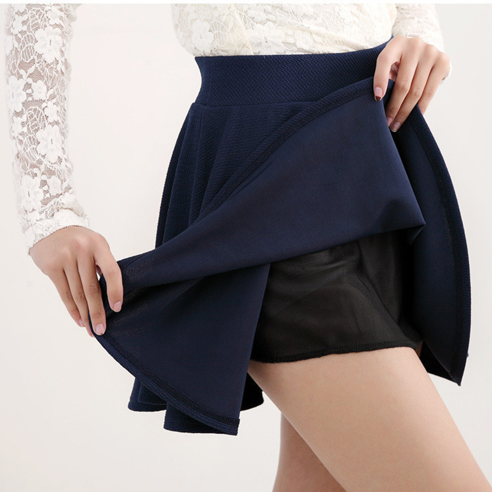 plus size 3xl mini skater skirt high elastic waist