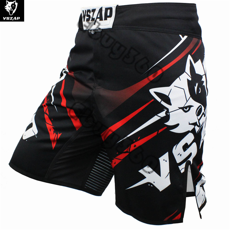 VSZAP Wolf Kick Boxing Shorts Men Women Thigh Size Open Punching Fighting Karate Kickboxing MMA Shorts Trunks MUAY THAI S martial arts