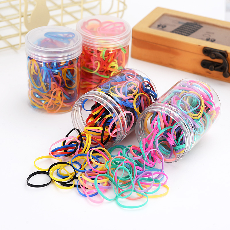 100pcs pack children girl Rubber Elastic Hair Band Hair Accessory Ties Braid Plaits Rubber Ponytail Holder Elastic Hair Hairband in Hair Accessories from Mother Kids
