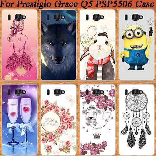 Stand FOR Prestigio Grace Q5 PSP5506 Duo Case Cover Original 10 Patterns Flower cover case For Prestigio Grace Q5 5506 DUO Shell