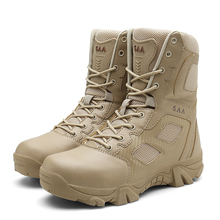 High Top Men Desert Tactical Military Boots Mens Working Safty Shoes Army Combat