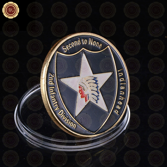 Factory Price 999.9 Gold Plated Coin U.S. Department Of The ARMY Challenge Coin Commemorative Custom Coin Fancy Challenge Coin