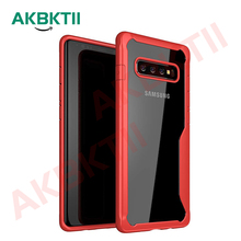 AKBKTII Coque For Samsung A7 2018 Case Galaxy S10 Lite Luxury Shockproof Cover Note9 S9 S8 Plus