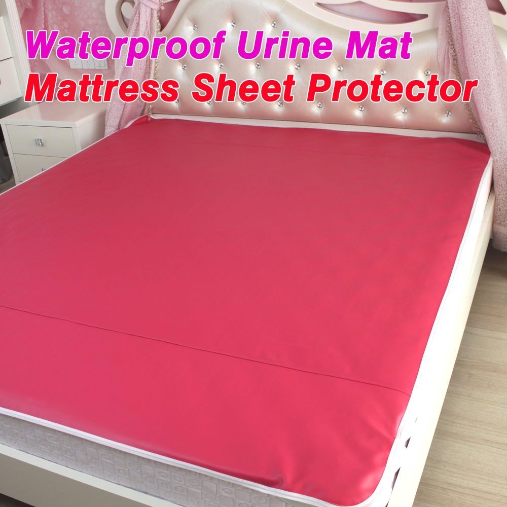 Pu Leather Waterproof Mattress Sheet Protector Pad Cover Bed Washable S Children Kids Faux Urine Mat In From Home Garden On
