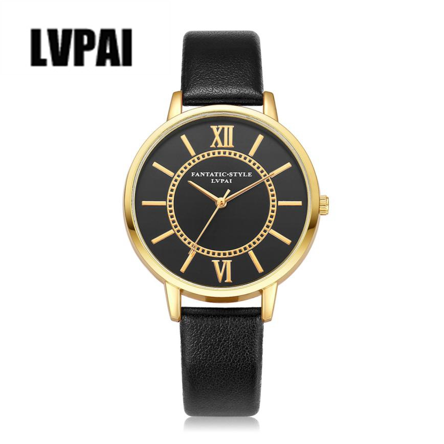 LVPAI Brand Watches Mens Sports Clock Women Fashion Gold Dial Quartz Watch Ladies Dress Wrist Watches Relogio Feminino Reloj #YL brand kimio reloj mujer fashion women pearl bracelet watches crystal dial quartz watch gold women watches relogio feminino clock