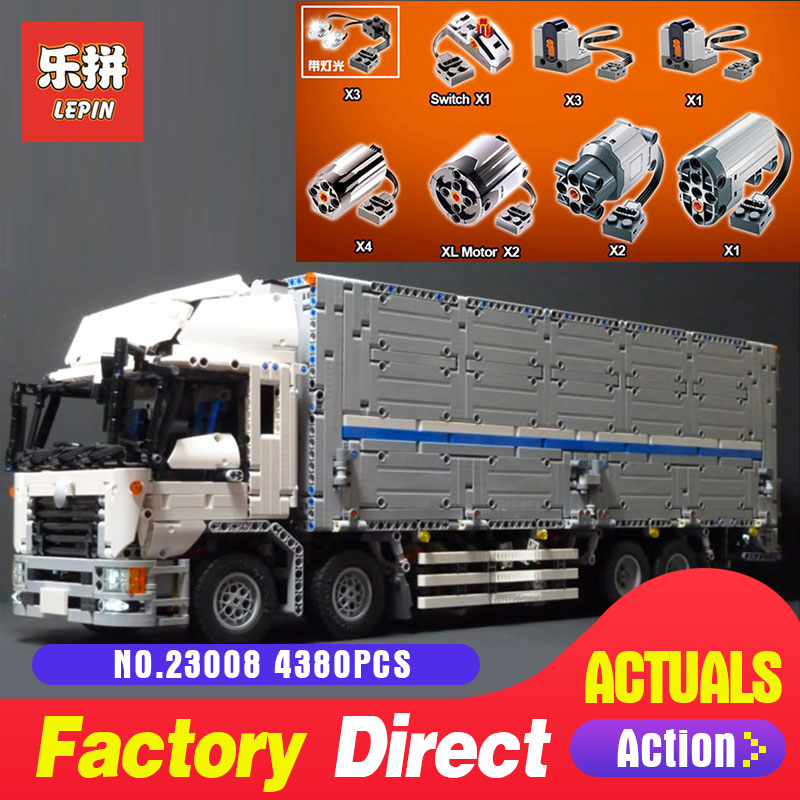 4380 pcs Lepin 23008 Technique Série La MOC Camion Wing Set 1389 Jouets Éducatifs Building Block Briques pour Enfants cadeau