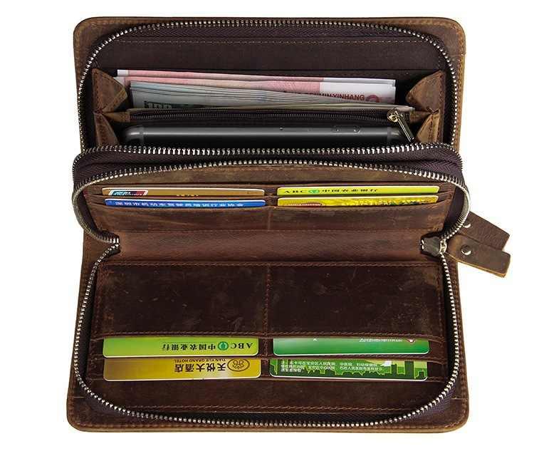 W stylu Vintage krokodyl wzór męskie portfele podwójne długi portfel z zamkiem torebka telefon komórkowy mężczyzna torba skóry wołowej kopertówka męska # MD-J8070