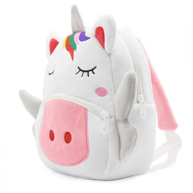 Милый Единорог Детский плюшевый рюкзак школьная сумка, рюкзак детские подарки детский сад мультфильм животных для мальчиков и девочек сумка Mochila
