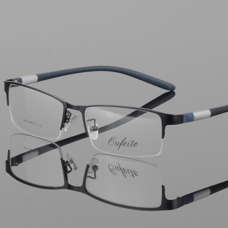 Half Rim Alloy Front Rim Flexible Plastic TR-90 Temple Legs Optical Eyeglasses Frame For Men And Women Eyewear 2242